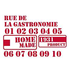 Stickers cuisine style industriel Gastro...