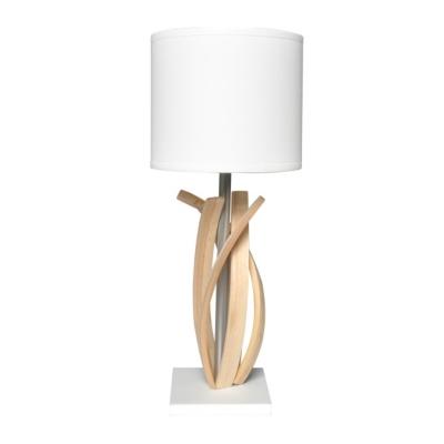 Facile à intégrer dans un intérieur contemporain, la jolie lampe en bois Alice allie simplicité et élégance. Elle illuminera dune ambiance douce et chaleureuse la pièce où vous laurez placée. Structure en bois massif (frêne) Socle en Corian® blanc Finitio