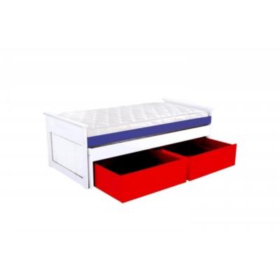 Lit Gigogne Maxi 90 x 200cm + tiroirs Camif