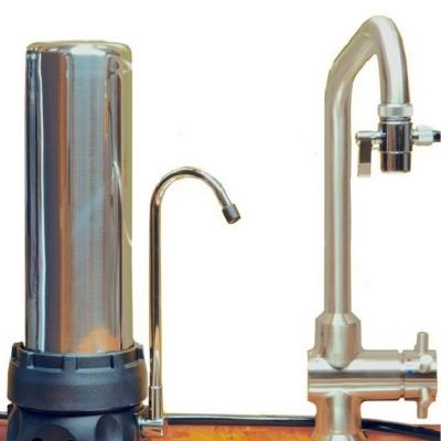 Filtre INOX sur évier avec une cartouche XM - HYDROPURE