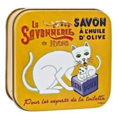 Savon Verveine 100 g et Boite Métal Chat...