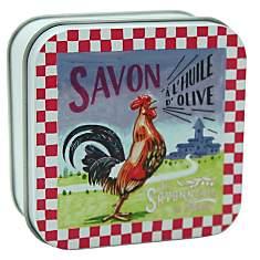 Savon Verveine 100 g et Boite Métal Coq ...