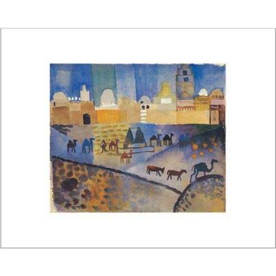 Kairouan I , August MACKE (1887-1914), affiche 40x50 cm