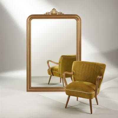 fauteuil sixty jaune moutarde fauteuils cuir design et tissu design salons cuir et tissu. Black Bedroom Furniture Sets. Home Design Ideas