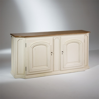 Vente buffet tritoo maison et jardin - Meuble patine blanc ivoire ...
