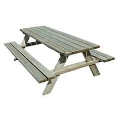 Table de pique-nique bois 6/8 places Fon...