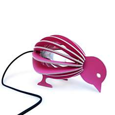 Zooo - lampe à poser oiseau en bois avec...