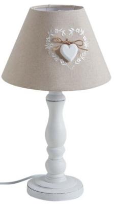 Lampe à poser bois Romantique à souhait, la lampe à poser bois sublimée dune couleur en duo souligne une conceptualisation à la fois chic et élégante. Elle a été confectionnée en bois, en coton et en métal. Ce luminaire signé Aubry Gaspard mesure 40 cm de