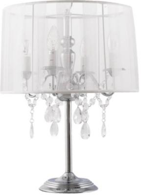 Coloris : Blanc Matériau principal : Abat-jour en tissu Matériaux secondaires : Structure et pied en acier chromé Dimensions : Diamètre abat-jour (en cm) : 35 Diamètre base (en cm) : 16 Hauteur (en cm) : 49,00 Spécificités techniques : Ampoules adaptées :