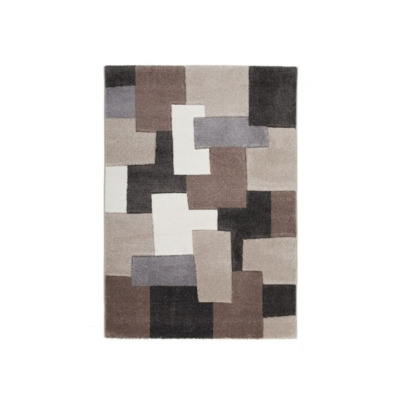 Tapis taupe Tim Deladeco Camif