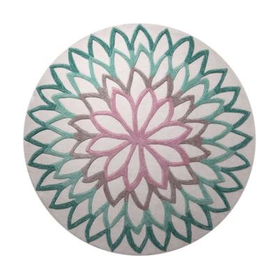 Tapis rond turquoise Lotus Flower ESPRIT HOME