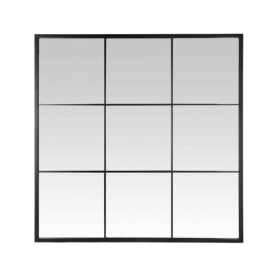 Miroir Indus carré noir 120x120