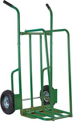 Chariot à bûches en Acier verni vert