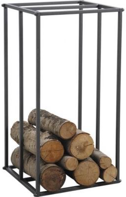 Rack à bûches vertical en métal gris