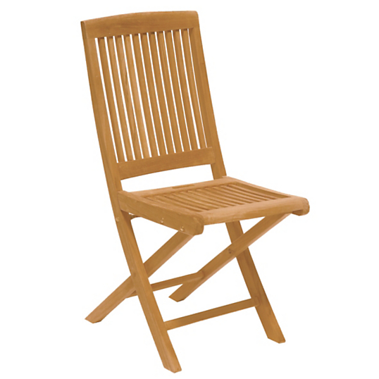 Lot de 2 chaises pliantes en teck medicis for Lot de chaises pliantes