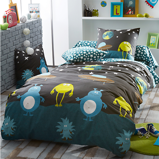 housse de couette monsters tradilinge. Black Bedroom Furniture Sets. Home Design Ideas