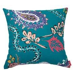 Coussin Montfort Bleu Fleurs ARTIGA