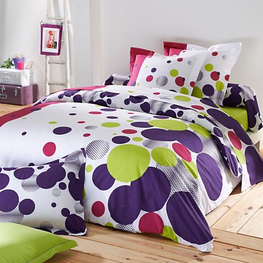 housse de couette mood fuchsia tradilinge. Black Bedroom Furniture Sets. Home Design Ideas
