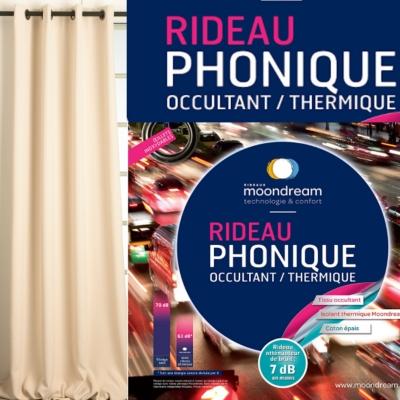 Rideau phonique occultant thermique  MOONDREAM Camif