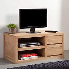 Meuble tv 90cm 2 étagères 2 tiroirs  Nor...
