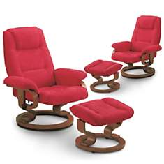 Lot de 2 fauteuils relax microfibre  Cro...