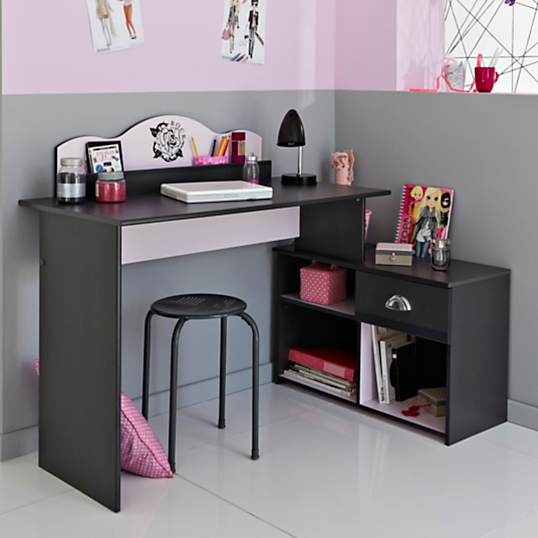 bureau pretty girl. Black Bedroom Furniture Sets. Home Design Ideas