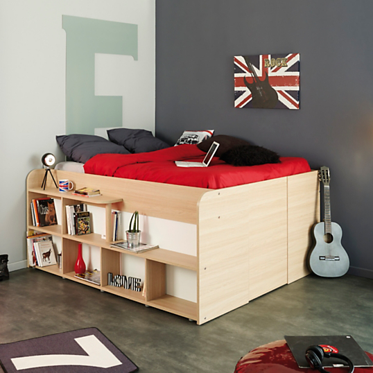 lit rangement pull up 140 x 200 cm. Black Bedroom Furniture Sets. Home Design Ideas