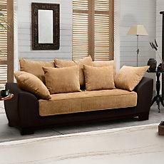 Canapé fixe 3 places bi-matières...
