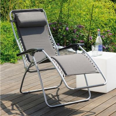 lot de 2 fauteuils relax lafuma rsx ardoise. Black Bedroom Furniture Sets. Home Design Ideas