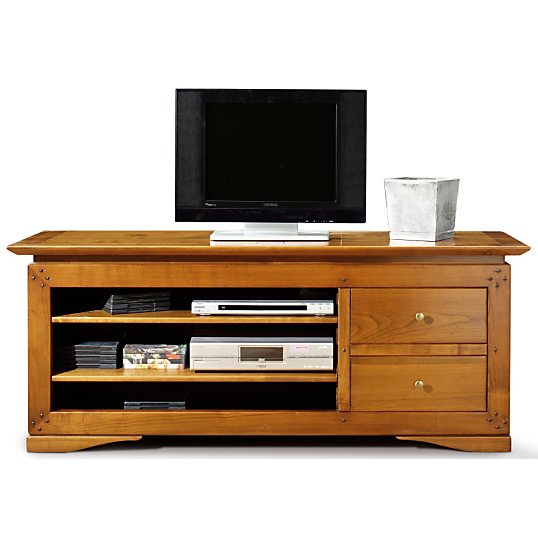 meuble tv avec 2 tiroirs salamandre. Black Bedroom Furniture Sets. Home Design Ideas