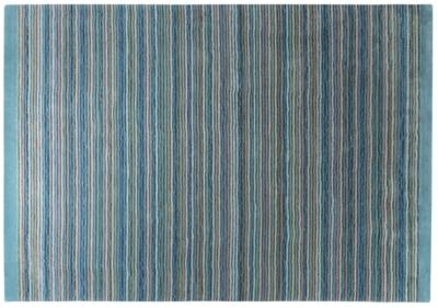 Tapis Samba Stripes ESPRIT HOME, bleu pétrole