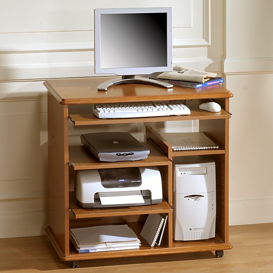 Bureau multim dia simon finition merisier dessertes for Bureau meuble camif