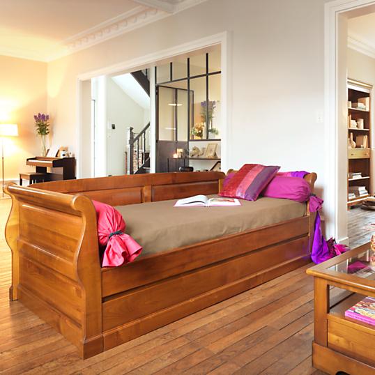 lit gigogne symphonie avec dosseret. Black Bedroom Furniture Sets. Home Design Ideas