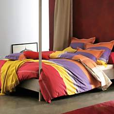 Parure de lit Santa Fe BLANC DES VOSGES,...