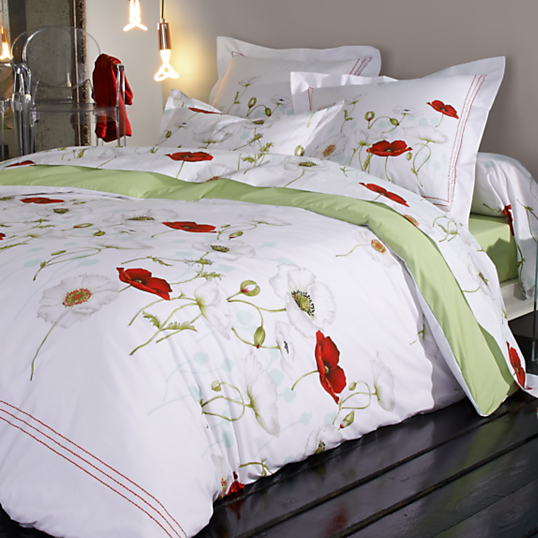 Drap percale s duction tradilinge - Housse de couette blanche brodee ...