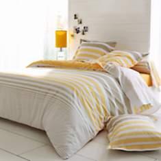 Parure de lit percale Stripe Narcisse  T...