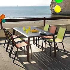 Table Azuro, aluminium 180 x 90 cm