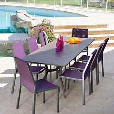 Table OCEO Séville 180/240x100 cm, alum...