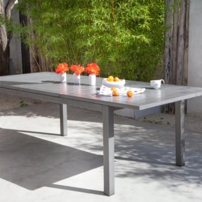Table OCEO Turin, aluminium 180/240  x 100 cm