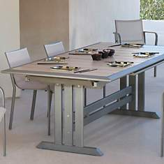 Ensemble table 184/243 muscade/gris  et ...