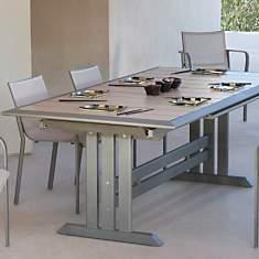 Table Hégoa muscade/grège, 6/8 personn...