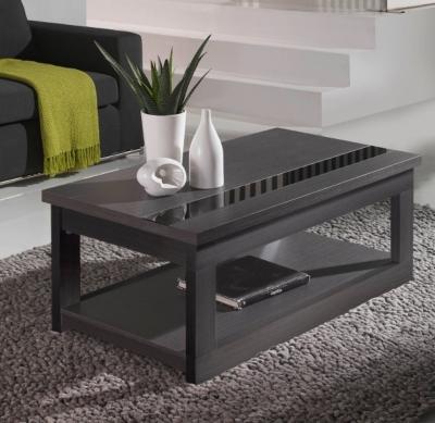 Table basse relevable Zamora, Fabriquée en panneau de particules mélaminé.... par LeGuide.com Publicité