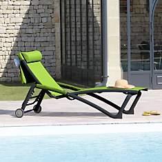 Lot de 2 bains de soleil Zoé + tétière...