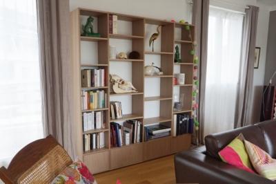 Bibliothèque sur-mesure Astrid MOBIBAM