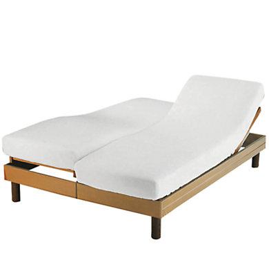 Prot ge matelas pour lits duo tissage du moulin - Matelas pour lit relaxation ...