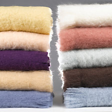 Couverture mohair Courchevel OURSON, 10 color...
