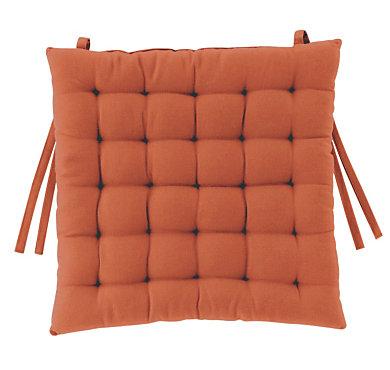 galette de chaise kali orange. Black Bedroom Furniture Sets. Home Design Ideas