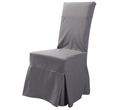Housse universelle de chaise tosca gris - Housse canape universelle ...