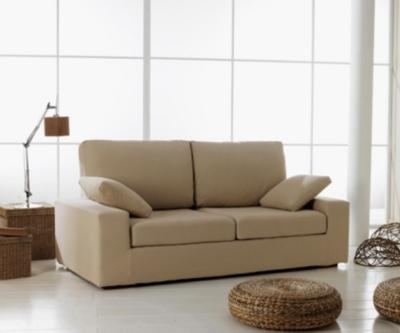 Canapé fixe 3 places coussins dos placés tissus C pour 839€