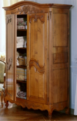 L'armoire 2 portes Passy toute lingère, chêne pour 4595€
